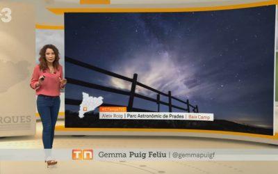 TV3 comparteix les imatges de la Via Làctia sobre el Pla de la Guàrdia (Prades)