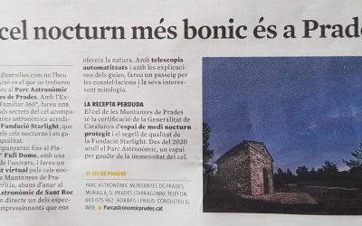 El cel nocturn més bonic és a Prades, La Vanguardia