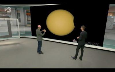 Eclipsi de Sol des de Prades al Telenotícies Vespre de TV3